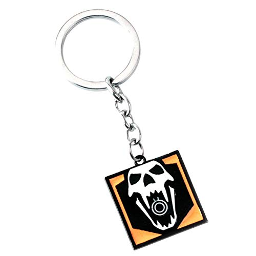 WZLDP Rainbow Six Operator Keychain Pendant-Small Gift Keychain (Color : E)