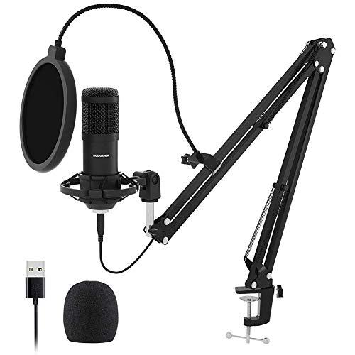 Dongbin Studio Kondensator-Mikrofon, Mikrofon Kapazität 700 Mikrofon für Karaoke Online Registrierung Live for Telefon,Schwarz