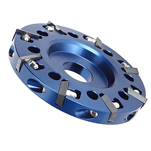 Kadimendium Cuchilla para Recortar pezuñas, diseño de Ojo Desnudo Aleación de Aluminio Cabeza cortadora Diseño de extensión Lateral Disco para Recortar pezuñas 8 Cuchillas más afiladas para Recortar