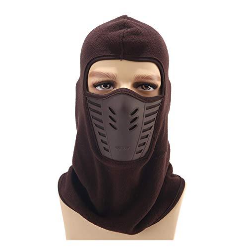 YNLRY Mascarilla para la boca a prueba de polvo, para invierno, cálida, transpirable, resistente al viento, casco de motocicleta, para correr, pescar/ciclismo (color: 5, tamaño de sombrero: M)