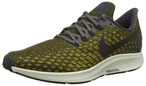 Nike Herren Air Zoom Pegasus 35 Sneakers, Mehrfarbig Thunder Grey Oil Grey Dark Citron 007, 42.5 EU