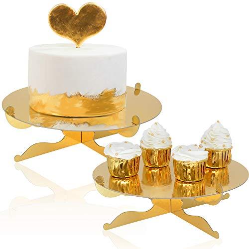 1-Tier Gold Round Cardboard Cupcake Stand Dessert...