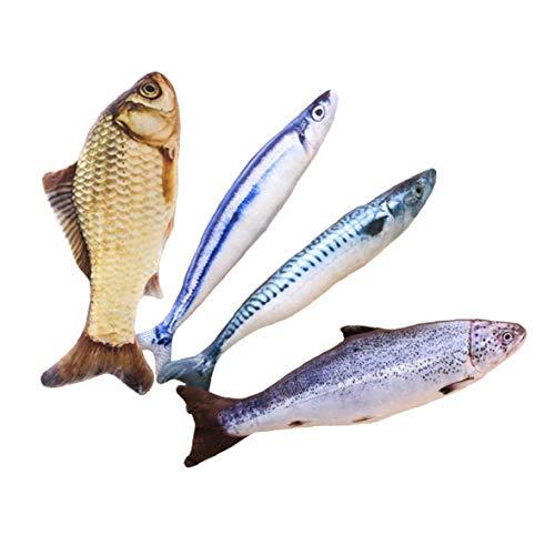 1pc Pescado Interactivo Gato De La Felpa Del Juguete 3d Fish Impreso...