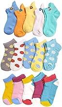 VWU Kids Ankle Socks Thin Cotton Socks Cute Pattern Breathable Mesh 1-10 Years Girls Boys (Set C 15pcs, 3-5 Years Old)