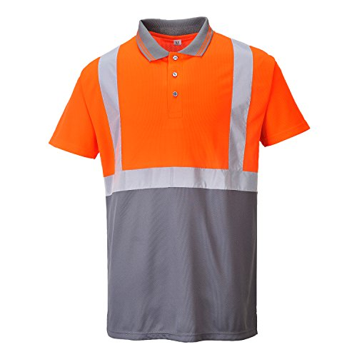 Portwest s479ogyxxl Polo Shirt hohe Sichtbarkeit, Orange/Grau, XXL