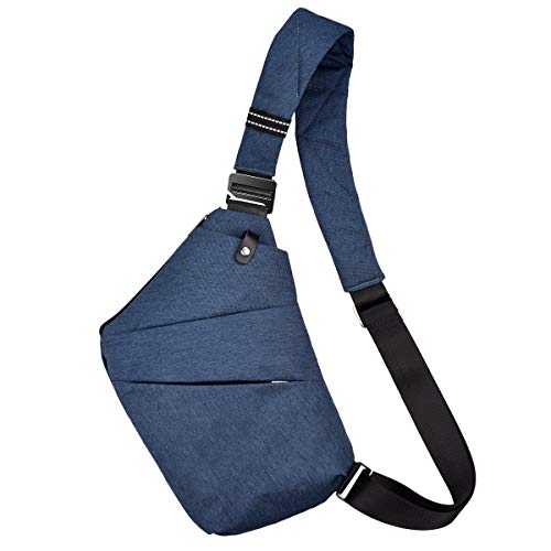 Ceephouge Waterproof Chest Crossbody Bag Anti-Theft Shoulder Backpack Sling Bag Small Fanny Pack Travel Bicycle Sport (Blue)