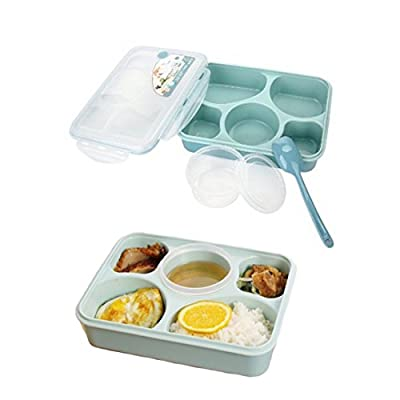 Lunch Bento Box Container Leakproof Microwave and Dishwasher Safe Fresh Stainless Divided Bento with Separated Containers