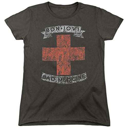 Women's Bon Jovi Bad Medicine T-shirt with Free Stickers
