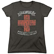 Popfunk Classic Bon Jovi Bad Medicine New Jersey Album Band Women's T Shirt & Stickers