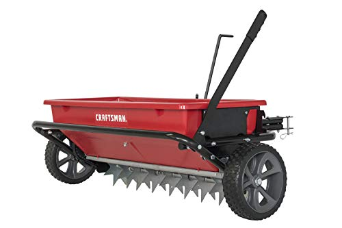 Craftsman CMXGZBF7124331 100-lb Spike Aerator Drop Spreader, Red