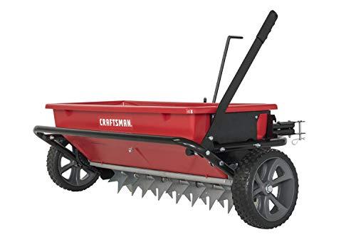CRAFTSMAN CMXGZBF7124331 100-lb Spike Aerator Drop Spreader, Red