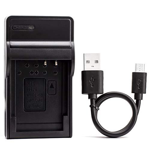 EN-EL12 USB Cargador para Nikon Coolpix AW130, AW100, AW120, AW110, S6200, S6300, S8100, S8200, S9100, S9300, S9500, S9900 Cámara y Más