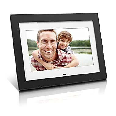 Aluratek 10  Digital Photo Frame with 4GB Video Support, Black (ADMPF410T)