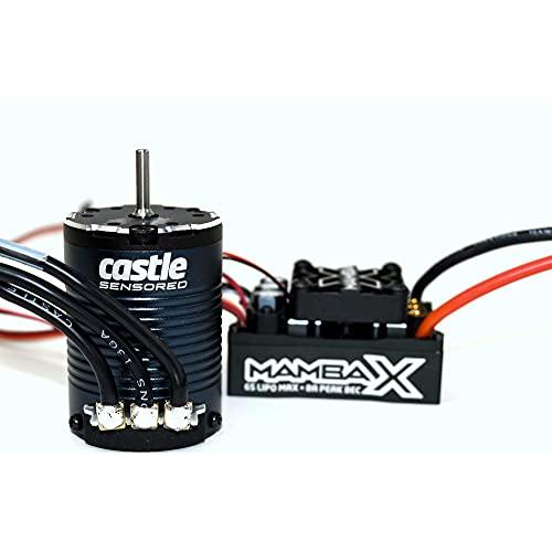 Castle Creations CSE010-0155-08 Mamba X 25.2V Waterproof ESC and 1406-1900kV Sensored Motor Combo