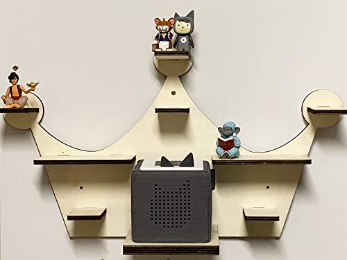 DIY Regal für die Musikbox Krone passend für Toniebox Kinder Name Baby Zimmer zum selbst bemalen mit Wunschname tolles individuelles Geschenk Geburtstag Ostern