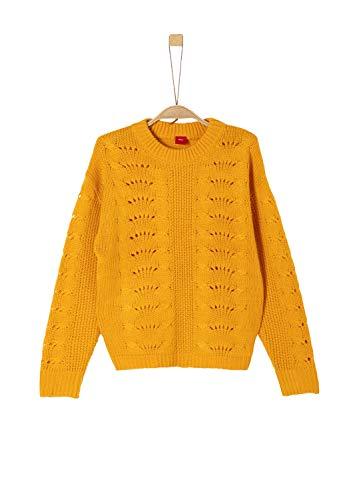 s.Oliver Mädchen 66.909.61.2309 Pullover, Gelb (Yellow 1438), 140 (Herstellergröße: S/REG)