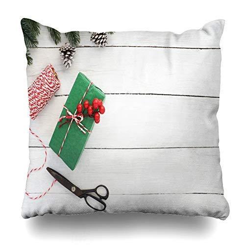 Diseño Plano Creativo de Madera de Navidad y Funda de Almohada de Navidad Funda de cojín Funda de Almohada para Dormitorio Sala de Estar