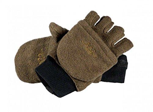 Blaser Fleece Fäustling Handschuhe braun, Größe:XL