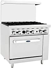 CookRite ATO-6B Commercial Manual Natural Gas Range 6 Burner Hotplates With Standard Oven 36