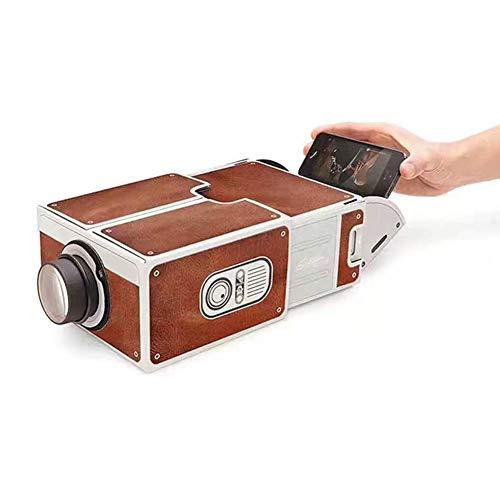 TOPCL - Proiettore per smartphone, proiettori portatili per film, per creare un piccolo home theater, guardare video iPhone/Android su un home cinema portatile in una scatola