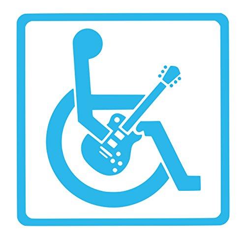 【全16色】車椅子マーク/車イス サイン/カー ステッカー/Car/ギター/1/車用/シール/ Vinyl/Decal /バイナル/デカール/-1 (スカイブルー) [並行輸入品]