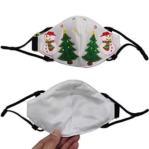 ZSDD Neue Weihnachten LED leuchtende Maske, Neue Weihnachten leuchtende Maske Weihnachten leuchtende Maske LED leuchtende Weihnachten Maske für Weihnachten Party