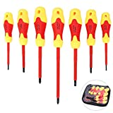 7pcs Insulated Screwdriver Insulated Electricians Electrical Screwdriver Set Chrome Vanadium Steel Magnetic Head Electrician Repair Tool