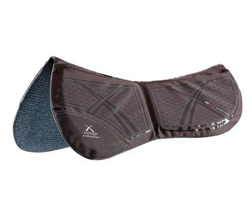 Premier Equine Tech Grip Pro Anti-Slip Korrekturpad Sattelunterlage Größe Warmblut, Farbe Braun