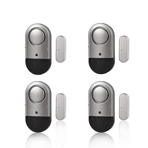 Tür-/Fenster-Alarm, magnetischer Sensor, Einbrecher, kabellos, 120 dB, Pool-Alarm für Kinder, Frauen, ältere Menschen, einfache Installation, Batterien im Lieferumfang enthalten (4 Stück)