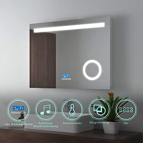 Espejo de Pared EMKE Espejo de ba/ño con iluminaci/ón LED Modelo