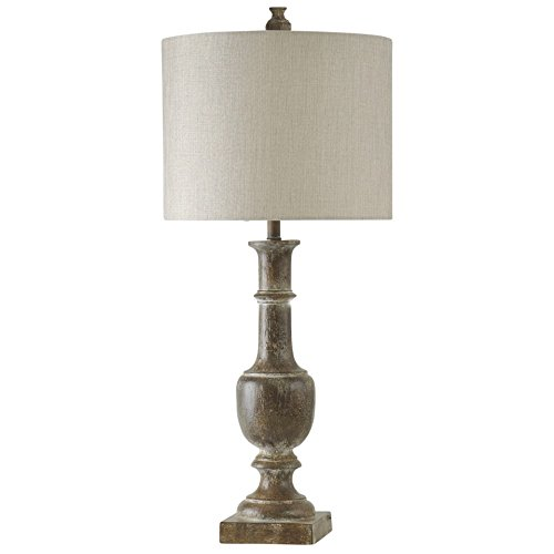 Baluster Design Table Lamp in Chatham Finish with Drum Shade (Set of 2)