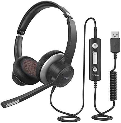 Mpow HC6 USB Headset with Microphone Comfort fit Office Computer Headphone On Ear 3 5mm Jack product image