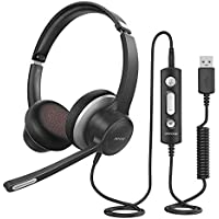 Mpow HC6 On-Ear 3.5mm Wired USB Headset with Microphone
