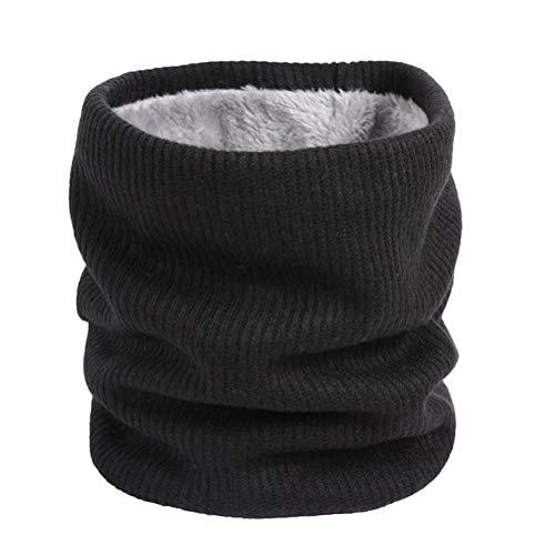 Cachecol de inverno com proteção fria e cachecol criativo com camada dupla à prova de vento e gola circular da Lioobo (bege), Preto, 21cm