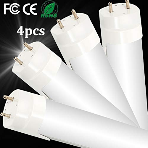4PCS Luci per Negozi LED T8 4FT Luce Fluorescente...