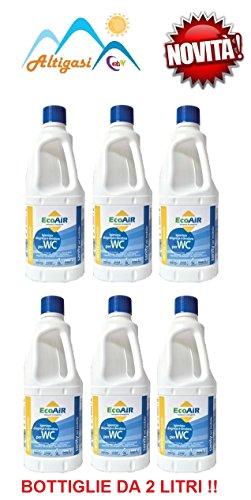 Sanity WC liquide pour réservoir eaux noires WC Camper principe actif Aqua Kem * * * 2 bouteilles de 6 litres * * *