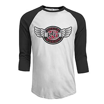 CharlesAndre REO-Speedwagon-REO Men s Raglan Baseball 3/4 T-Shirt Black