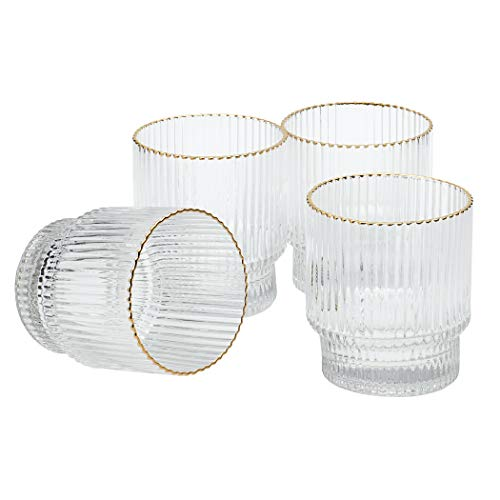 Denmark Tools for Cooks Glass Drinkware Collection- Low Boy Tumblers Set Water Bar Whisky, 4 Pack of...