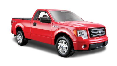Maisto 2010 Ford F-150 STX Pickup Truck 1/27 Scale Diecast Model Car Red