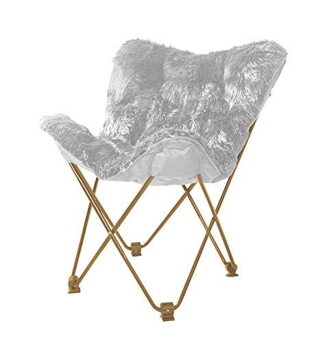Urban Shop WK657564 Mongolian Butterfly Chair, Silver