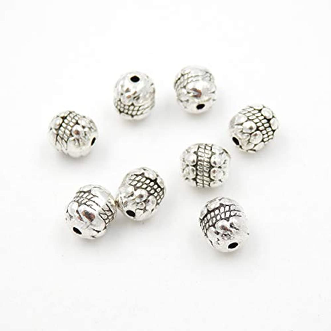 Malahill Metal Beads for Jewelry Making, Charms for jewlery, Sold per Bag 100pcs Inside, Drum Beads 7x8mm