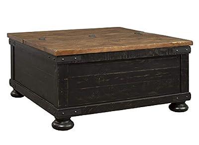 Signature Design by Ashley - Aldwin Farmhouse Storage Coffee Table - Pine Wood