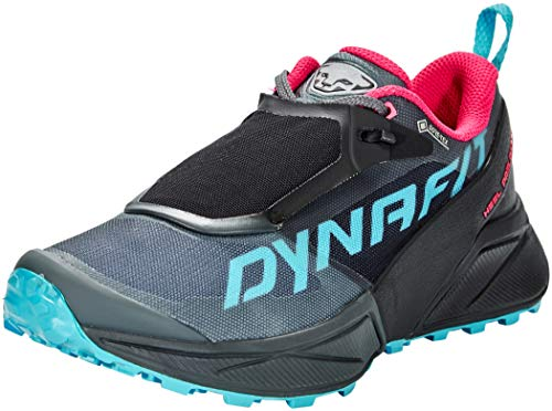 DYNAFIT Damen Ultra 100 W GTX Laufschuhe, Schwarz, Rosa (Black Out Flamingo), 38.5 EU
