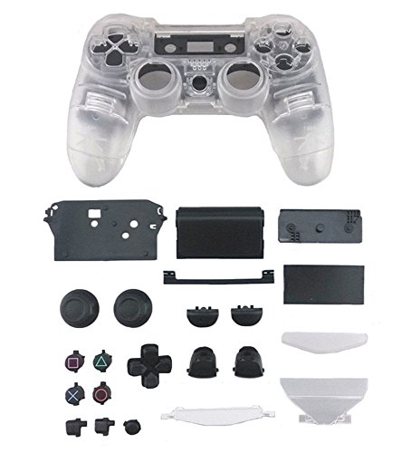 yueton Replacement Full Housing Controller Shell Case Cover Kit for Playstation 4 JDM 010