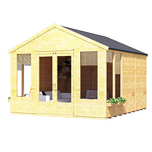 BillyOh Holly Tongue and Groove Apex Summerhouse (Spray Golden Brown, 12x10)