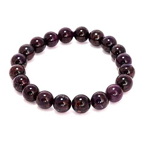 Jaipur Gems Mart Natürliche AAA Sugilite Stretch-Armband   7-7,5? Länge Sugilite Edelstein-Armband   Unisex-Armband   10mm runde Form Perlen   Männer Perlen Armband