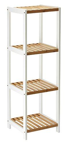 Orolay Moderna bambú Estante de exhibición con 4 estantes (Beige)
