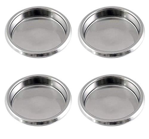 Gaz N Pow3r Lot de 4 filtres à Vide en Acier Inoxydable 58 mm pour Machines à Expresso commerciales