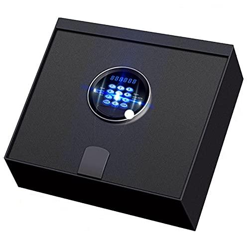 Caja Fuerte Empotrable Caja fuerte para cajones con cerradura electrónica - Caja fuerte de seguridad con teclado de apertura superior para la oficina del hotel en casa, color negro, 40 × 35 × 12,7 cm