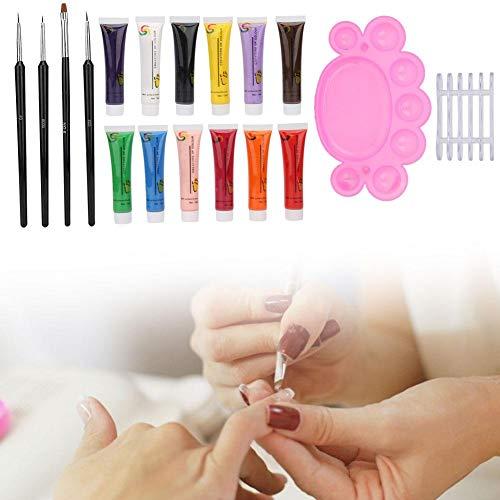 Professionelle Nageldekoration Maniküre-Kit, DIY Nail Art Werkzeuge, Nail Art Pinsel Stift, Nail...